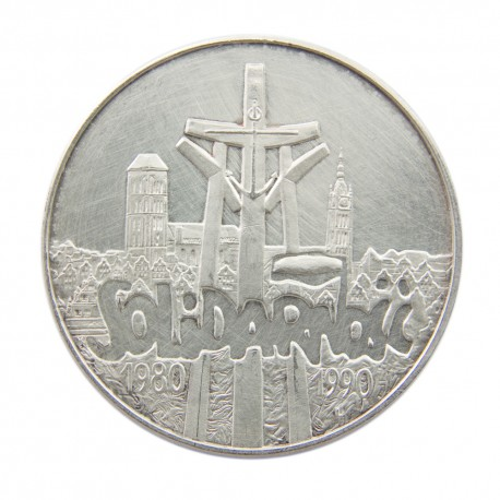 100000zł Solidarność 1990, stan 2- ,Typ A