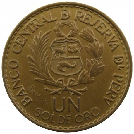 Peru 1 sol, 1965 400 lat Mennicy w Limie