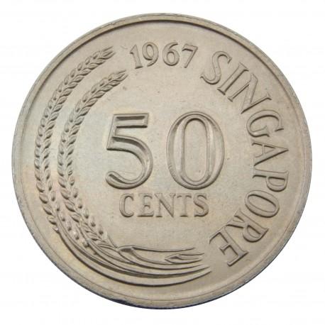 Singapur 50 centów, 1967