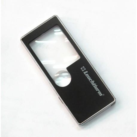 Lupa 5 w 1 firmy Leuchtturm (2 soczewki, latarka, UV, długopis)