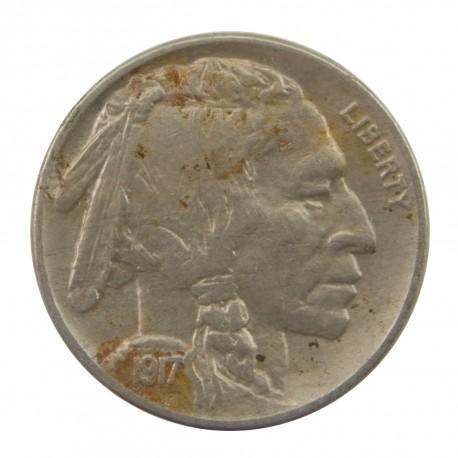 USA 5 centów, 1917 Buffalo Nickel, stan 3