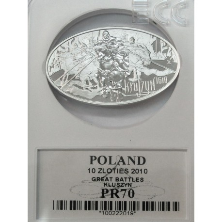 10 zł, Kłuszyn - wielkie bitwy, rok 2010, PR70
