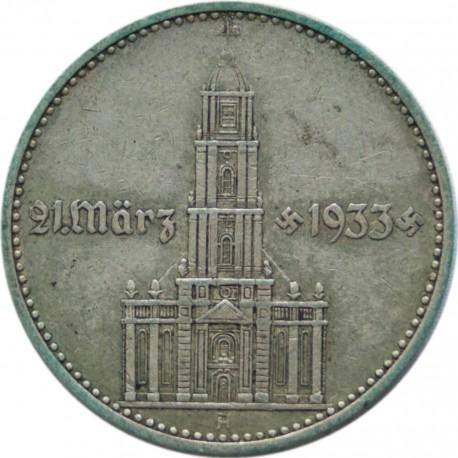 Niemcy, 2 Marki 1934 A - KOŚCIÓŁ, stan 3+