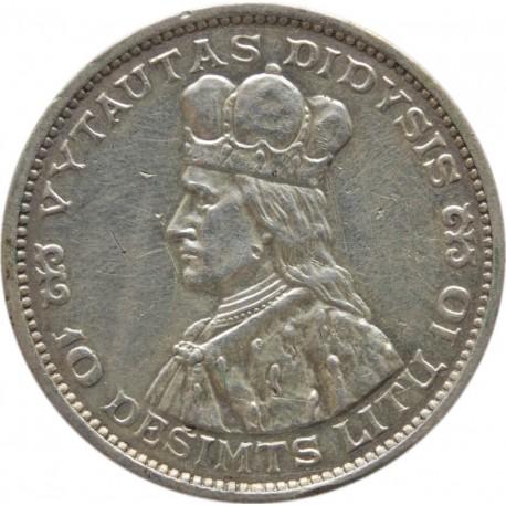 Litwa - Książę Witold - 10 Litów 1936 - stan 3, nalot