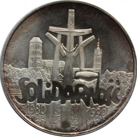 100000zł Solidarność 1990, Typ A, stan 1-, patyna