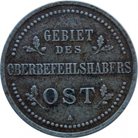 Niemcy 3 kopiejki - Wilhelm II, 1916 A, stan 3+