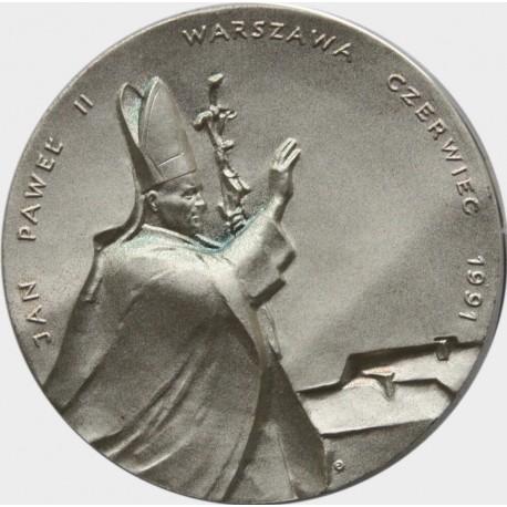 Medal Jan Paweł II, Warszawa czerwiec 1991 w etui