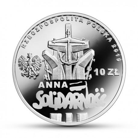 10 zł 90. rocznica urodzin Anny Walentynowicz