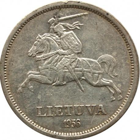 Litwa, 5 litów 1936, stan 3