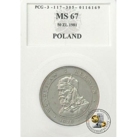 50 zł, Władysław I Herman 1079-1102, MS67 1981