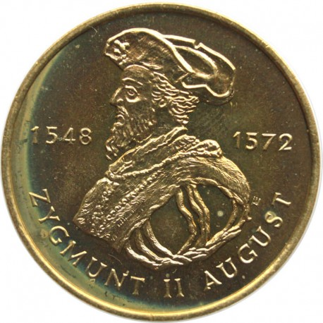 2 zł Zygmunt II August 1996, delikatny nalot