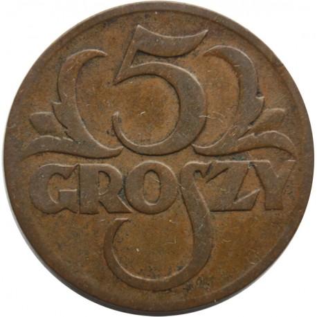 5 groszy 1930, stan 3+