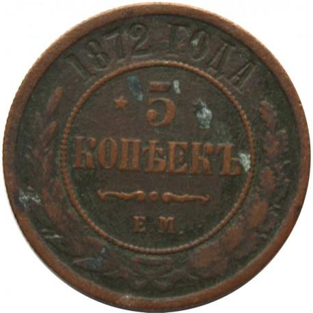 Rosja, 5 kopiejek, 1872, stan 3