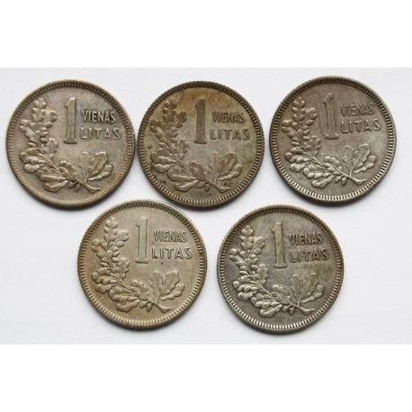 Litwa, 5 x 1 lit, 1925, stan 3