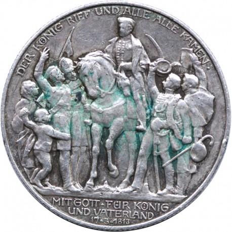 NIEMCY - PRUSY - 2 MARKI 1913 - Bitwa pod Lipskiem