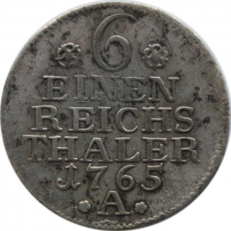 Niemcy, 1/6 talara 1765 A, Fryderyk II