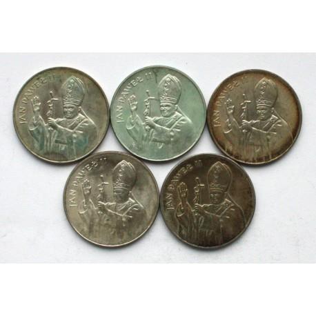 5 x 10000 zł Jan Paweł II 1987