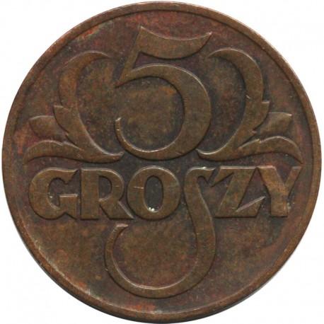 5 groszy 1938 rok, stan 2