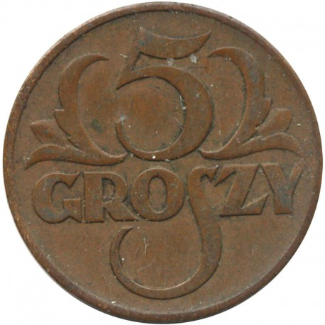 5 groszy 1938 rok, stan 2-