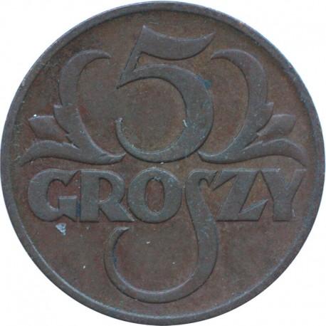 II RP, 5 groszy 1939, stan 2