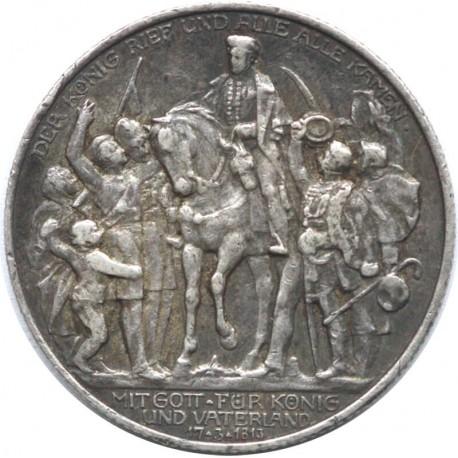 Niemcy, 2 marki 1913, Bitwa pod Lipskiem