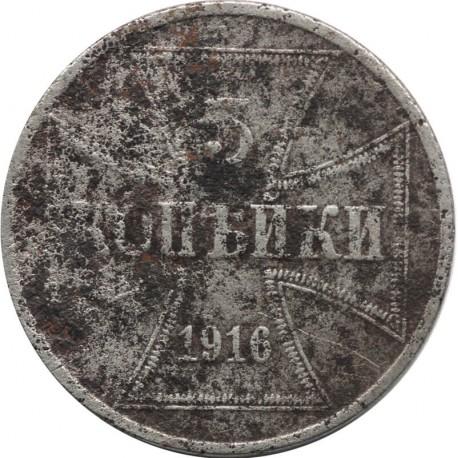Niemcy 3 kopiejki - Wilhelm II, 1916, stan 3-