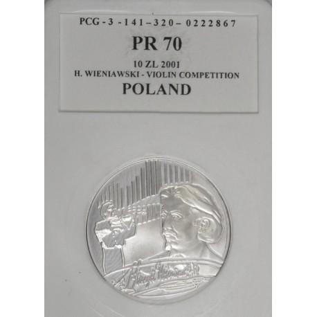 10 zł, Henryk Wieniawski, PR70