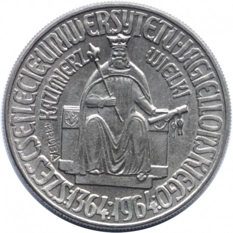 10 złotych Kazimierz Wielki próba 1964, stan 1-