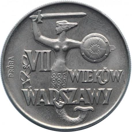 10 złotych VII wieków Warszawy Syrenka próba 1965