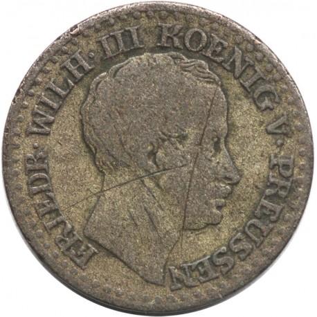Prusy 1 srebrny grosz, 1824 A