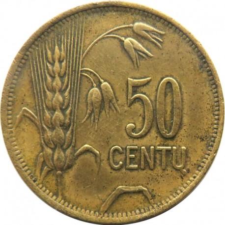 Litwa, 50 Centu, Litwa, 1925, stan 3
