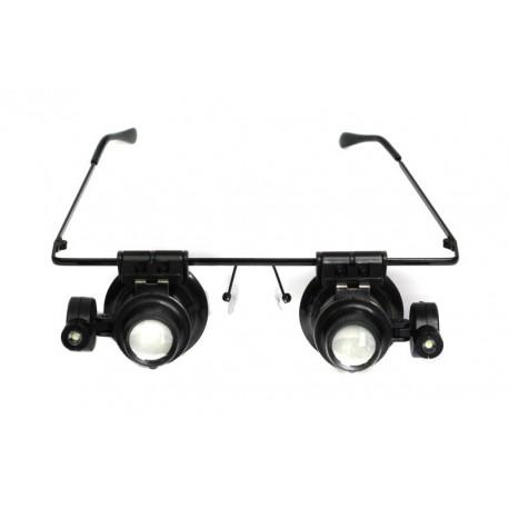 Okulary powiększające / lupa (20x) z podświetleniem
