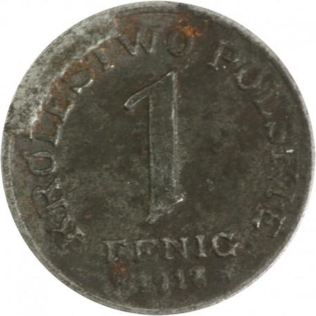 Królestwo Polskie, 1 Fenig 1918, stan 3-