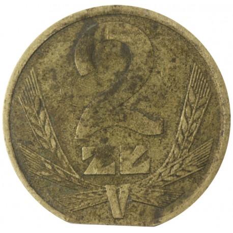 PRL 2 złote 1982 DESTRUKT st. 3