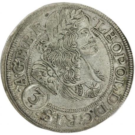3 krajcary 1670, Leopold, stan 3