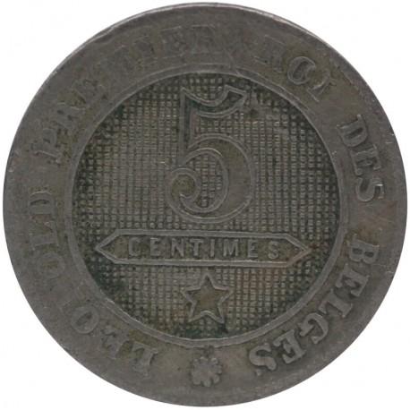 Belgia 5 Centimes 1862, stan 4
