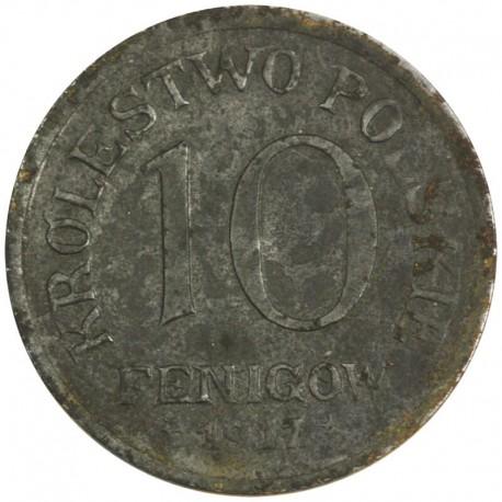 10 Fenigów 1917 FF Królestwo Polskie stan 3