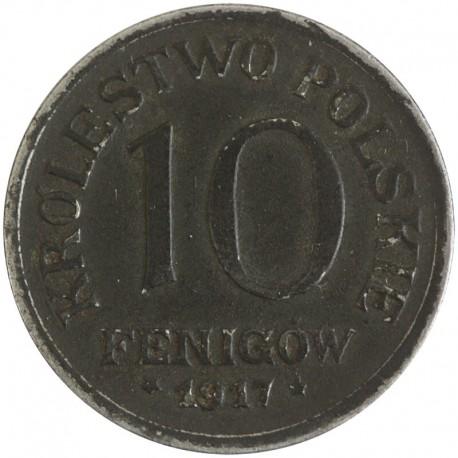 10 Fenigów 1917 FF Królestwo Polskie stan 2
