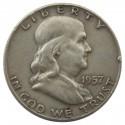 HALF DOLLAR 1957 D - FRANKLIN, stan 3