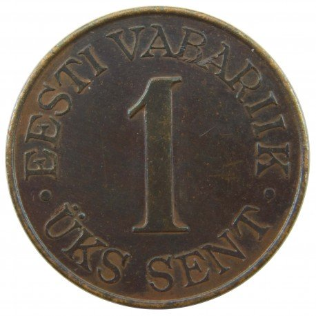 Estonia 1 sent, 1939, stan 2