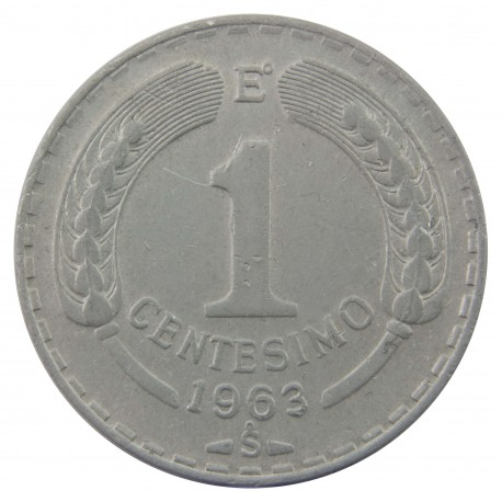 Chile 1 centésimo, 1963, stan 3