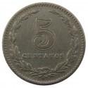Argentyna 5 centavos, 1908