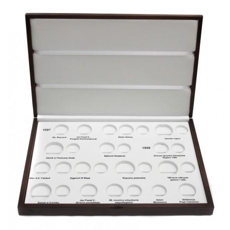 Kaseta roczniki 1997 + 1998 do przechowywania monet srebrnych i 2zł GN
