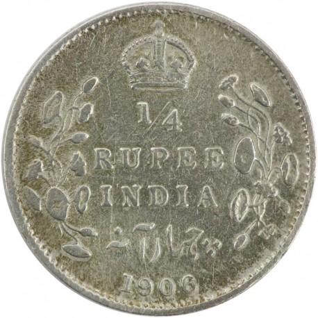 Indie - Brytyjskie ¼ rupi, 1906, stan 3