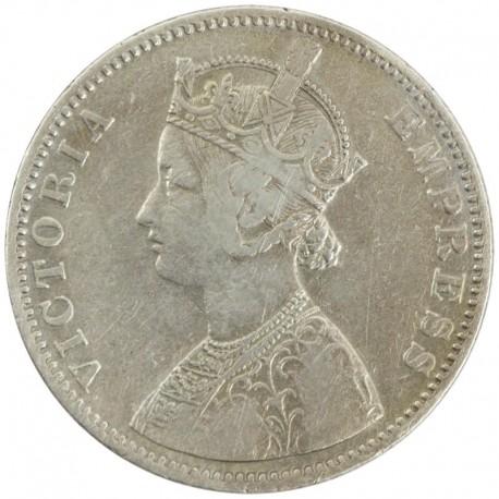 Indie - Brytyjskie 1 rupia, 1886 C, stan 3