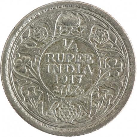 Indie - Brytyjskie ¼ rupi, 1917