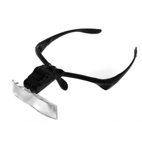 Lupa nagłowna, okularowa, 5 powiększeń (od 1x do 3.5x), LED