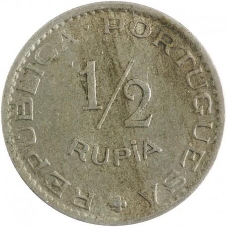 Indie - Portugalskie ½ rupii, 1952