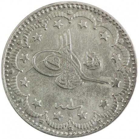 Imperium Osmańskie, Turcja, 5 kuruszy 1909, srebro