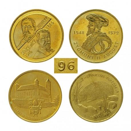 Komplet monet 2 zł z roku 1996
